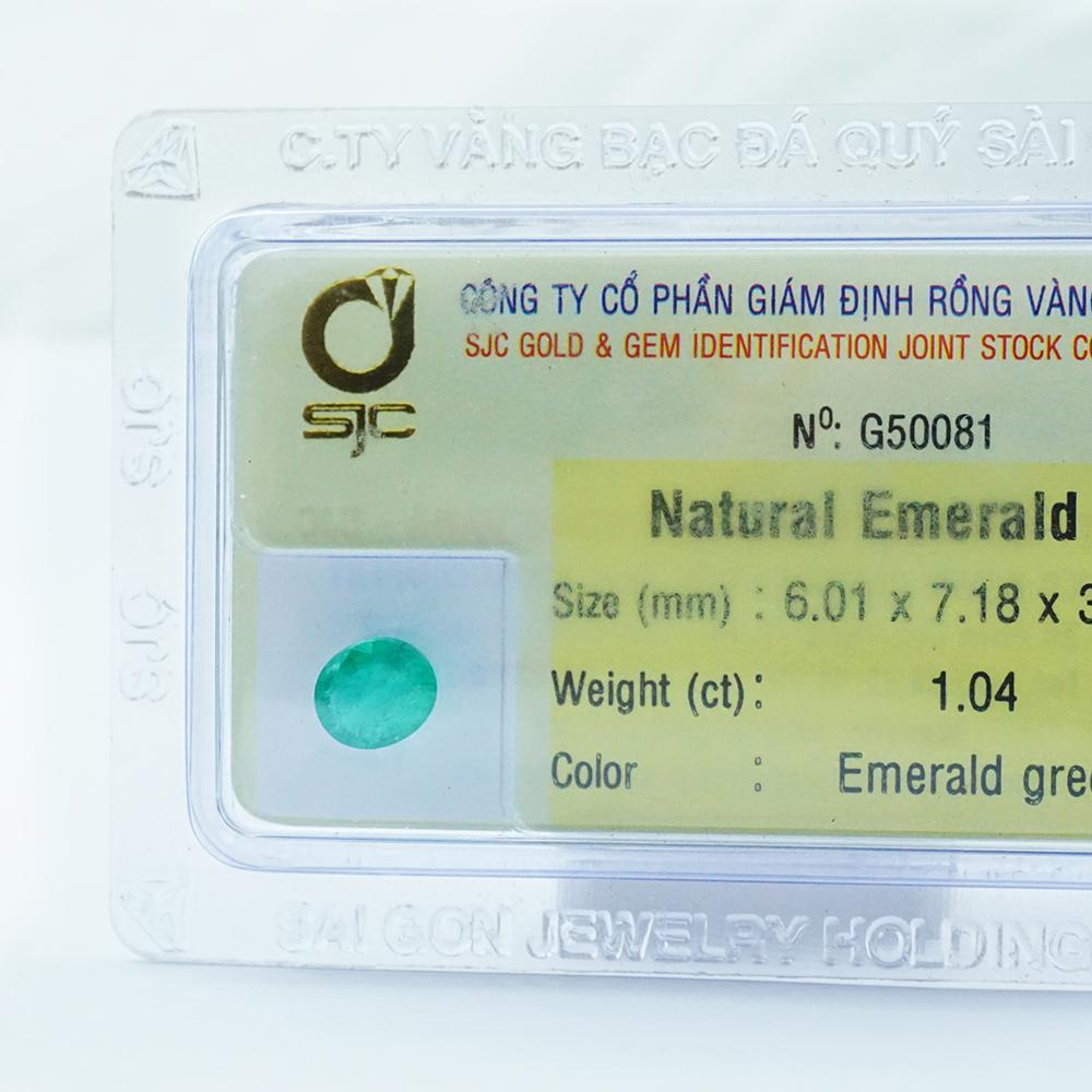 ĐÁ QUÝ EMERALD TỰ NHIÊN OVAL 6*7 LI 50081