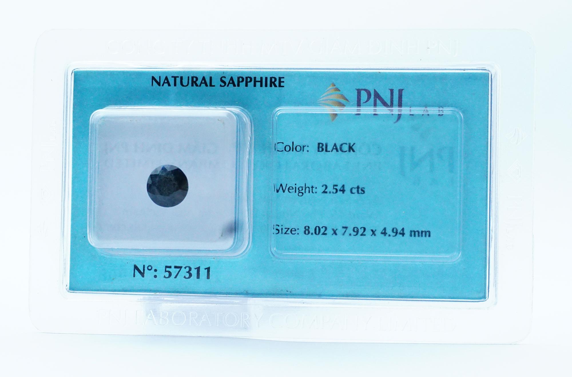 Mặt đá Sapphire kiểm định tự nhiên 8*7 Li 57311
